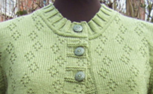 A machine knitting design made from a punch card pattern from Clair Crowston.